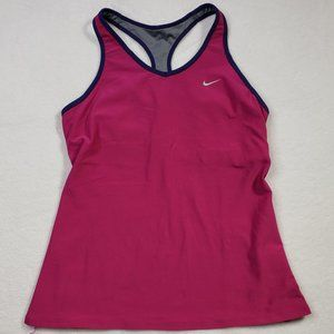 Nike Dri-Fit Pink Racer Bank Athletic Tank top Med